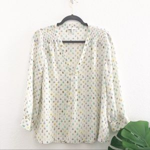 Joie Beatles and Bees Silk Blouse